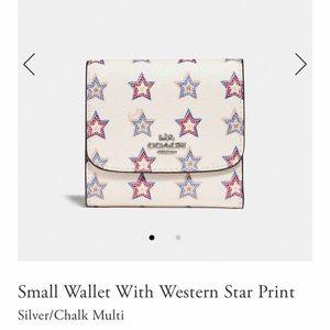 NWT Coach Small Western Star Wallet